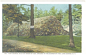 Fort George Lake George NY Early Postcard p5871 (Image1)