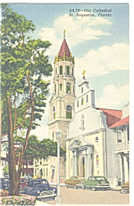 Old Cathedral St. Augustine Fl Postcard P5884