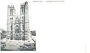 Brussels Collegiale Sainte Gudule  Postcard p5889 (Image1)