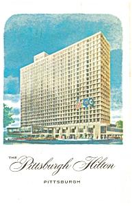 Pittsburgh PA The Pittsburgh Hilton Postcard p5892 (Image1)
