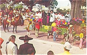 Los Angeles CA Olvera Street Postcard p5952 (Image1)