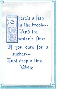 Just Drop a Line Vintage Postcard p5971 (Image1)