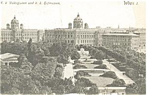 Vienna Austria, K.K.Volksgarten  Postcard (Image1)