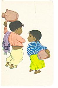 Mexican Little Children Postcard p5990 (Image1)