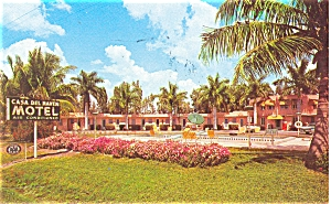 Casa Del Haven Motel Ft Myers Fl Postcard P6002
