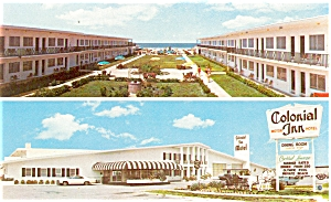 Colonial Inn Motel St. Petersburg Fl Postcard P6017