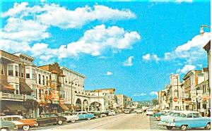 Stroudsburg PA Main Street Postcard p6029 Cars 50s (Image1)