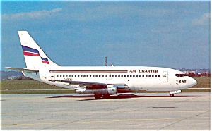 Air Charter B-737 Taxing Postcard P6053