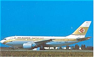 Air Algerie Airbus A310 Postcard p6063 (Image1)