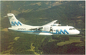 Transportes Aeromar ATR 42-300 Postcard p6064 (Image1)