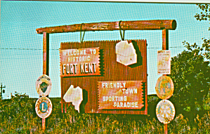 Fort Kent Maine Sign Post Postcard P40662 (Image1)