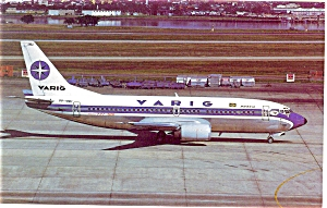 Varig 737 Postcard p6083 (Image1)