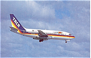 TACA International 737 Postcard p6087 (Image1)