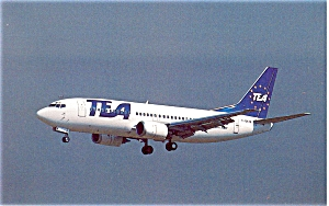 TEA Boeing 737 Postcard p6089 (Image1)