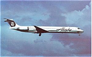 Alaska Airlines MD-83 Postcard p6096 (Image1)