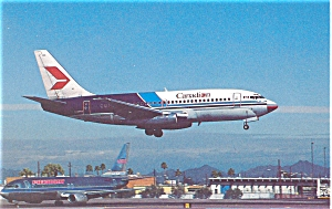Canadian Airlines 737 Postcard p6102 (Image1)