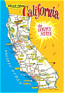 California State Map Postcard (Image1)