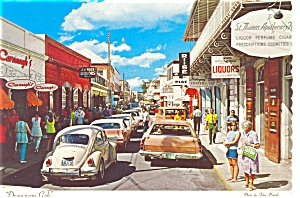Main Street St Thomas Virgin Islands Postcard (Image1)