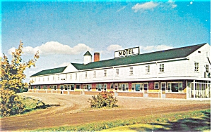 Amherst Nova Scotia, Fisher's Motel Postcard (Image1)