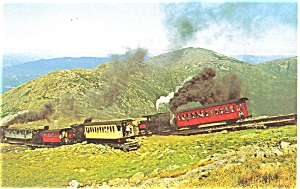 Mt Washington NH Cog Railway Switch Postcard (Image1)