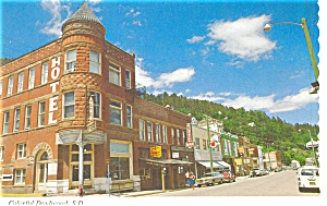 Deadwood SD Main Street Postcard p6148 (Image1)