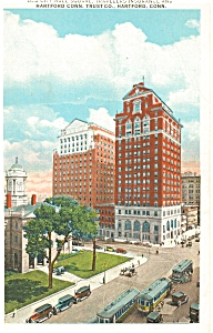 Hartford CT Old City Hall Square Postcard (Image1)