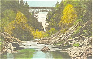Woodstock Vt Quechee Gulf Bridge Handcolored P6216