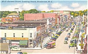 Henderson NC Garnett Street Postcard p6274 (Image1)