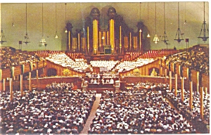 Mormon Tabernacle Salt Lake City UT  Interior Postcard p6315 (Image1)