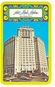 San Francisco, CA, Mark Hopkins Hotel Postcard (Image1)