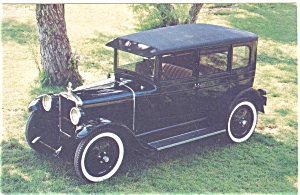 1926 Ajax 4 Door Sedan Postcard (Image1)
