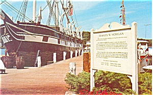 Charles W Morgan Square Rigged Whaler Postcard p6352 (Image1)