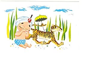 Sambo s Restarant  Postcard Sambo with Tiger p6370 (Image1)