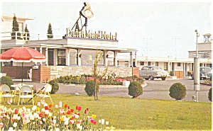 Woodbridge, NJ Dutch Maid Motel Postcard (Image1)