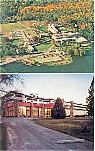 Swan Lake NY Country Club Postcard p6420 (Image1)