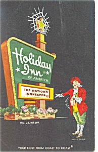Perrysburg Ohio Holiday Inn Sign Postcard P6437