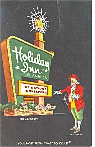 Perrysburg Ohio Holiday Inn Sign Postcard p6437 (Image1)
