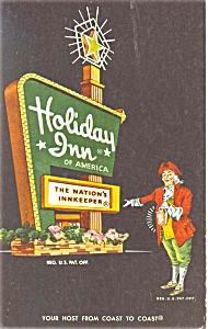 Springfield Ohio Holiday Inn Sign Postcard p6438 (Image1)