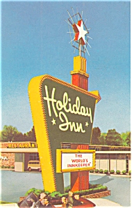 Youngtown Ohio  Holiday Inn Sign Postcard p6440 (Image1)