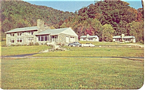 Cherokee Nc Boundary Tree Motel Postcard P6463