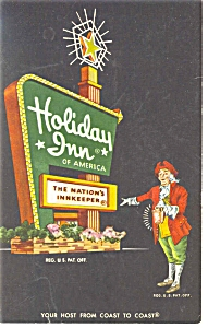 Steubenville, OH, Holiday Inn Sign Postcard p6469 (Image1)