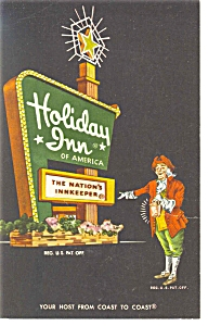 Richmond, VA, Holiday Inn Sign Postcard (Image1)