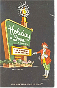 Newport News Va Holiday Inn Sign Postcard P6471
