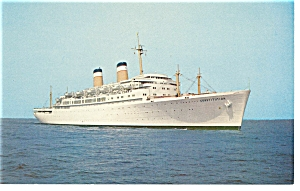 SS Constitution Passenger Liner Postcard p6490 (Image1)
