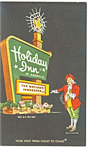 Staunton Va Holiday Inn Sign Postcard P6495