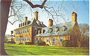 Williamsburg  VA Carter  s Grove Plantation Postcard p6504 (Image1)