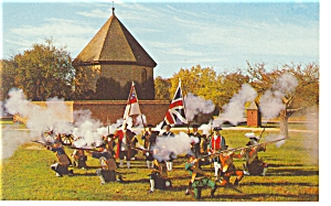 Williamsburg,VA, The Colonial Militia Postcard (Image1)