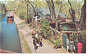 New Hope PA Tow Path House Restaurant Postcard p6536 (Image1)
