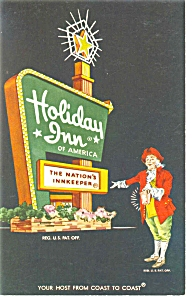 Saratoga Springs Ny Holiday Inn Sign Postcard P6572