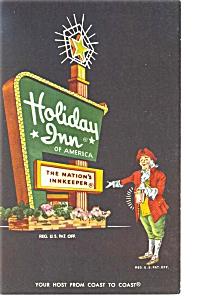 Roanoke Rapids NC Holiday Inn Sign Postcard p6586 (Image1)